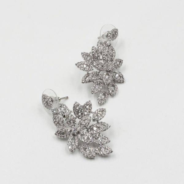 Zircon Earrings Med Square