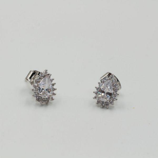A small zircon earring in a tear