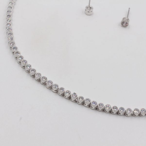 Cubic Zirconia Set 2 pieces Silver