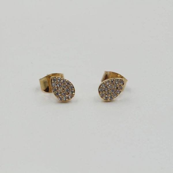 Small zircon earrings