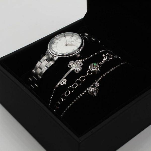 A set of watches and 3 elegant bracelets