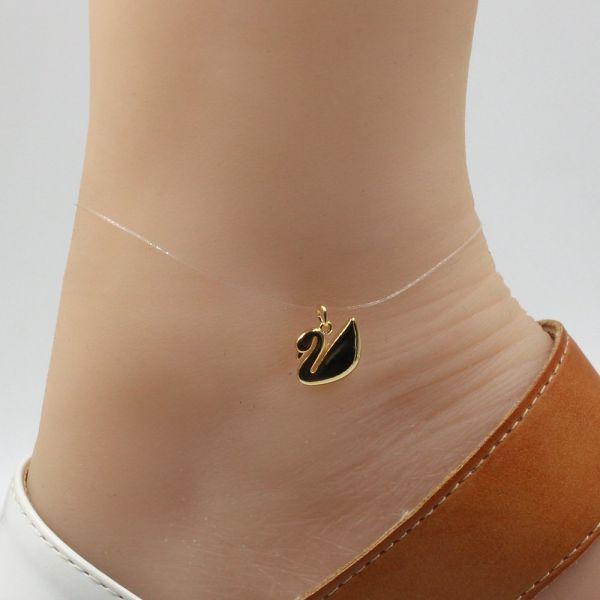 Transparent transparent anklet