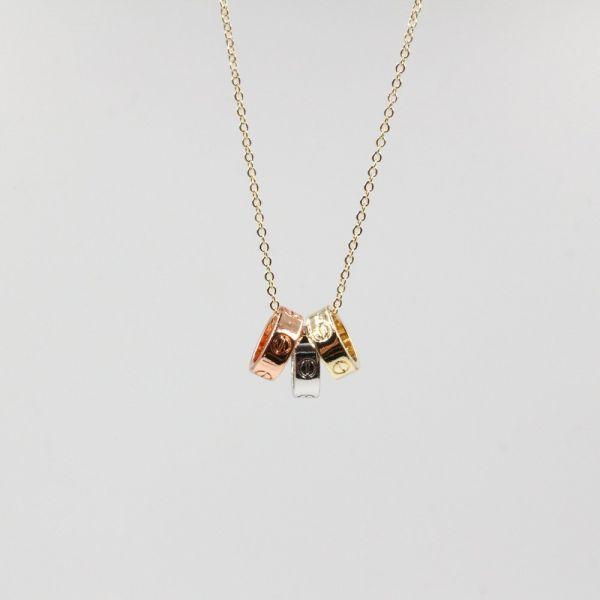 سلسال كارتير حلقات معدنيه ملونه-5