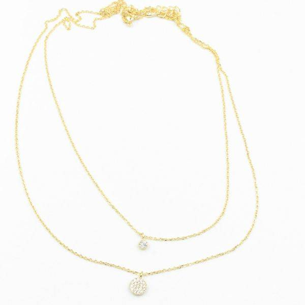 Catenary of two round cubic zirconia