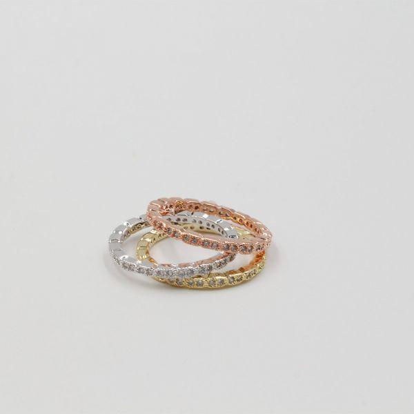 Rings Double Twins Cubic Zirconia