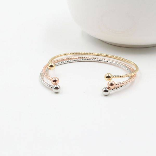 Three colored bracelets