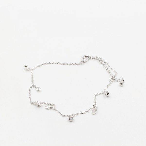 A fine anklet cubic zirconia