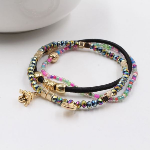 Colored beads bracelets