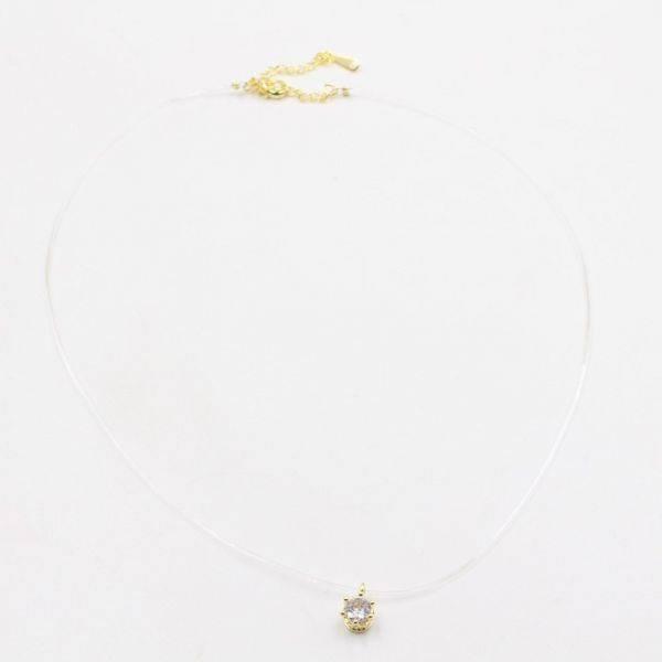 Transparent catenary round zircon