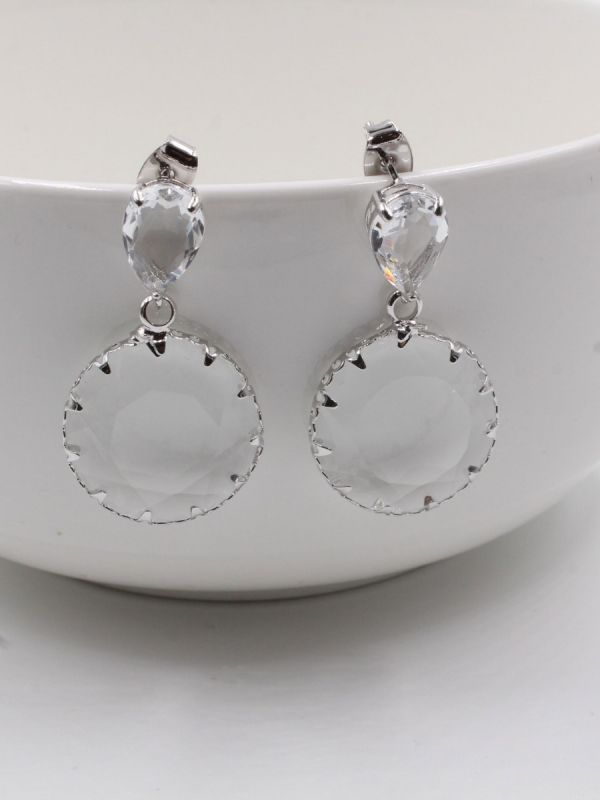 Glass earring, rounded glass