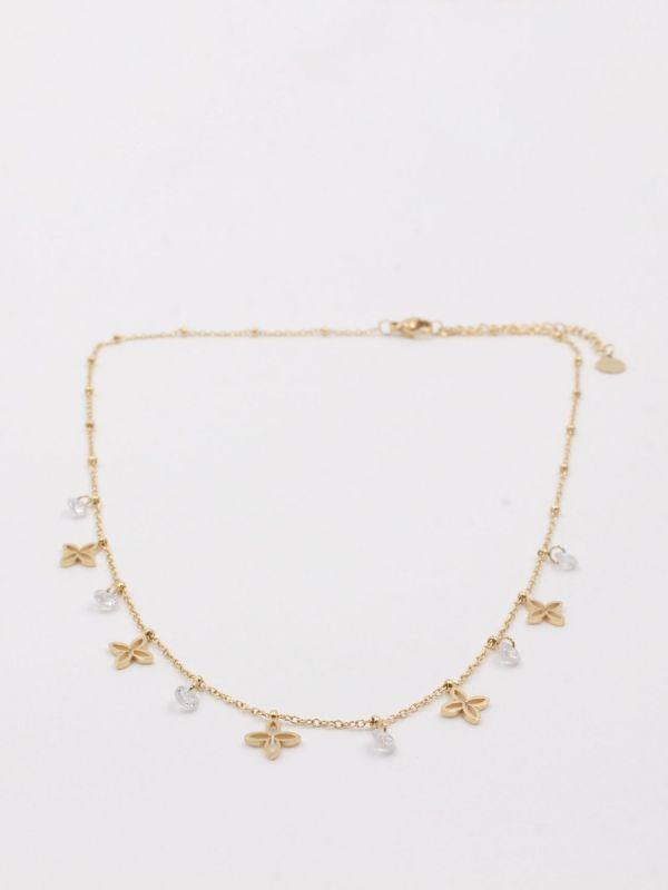 Choker Van Cleef necklace and zircon stainless steel