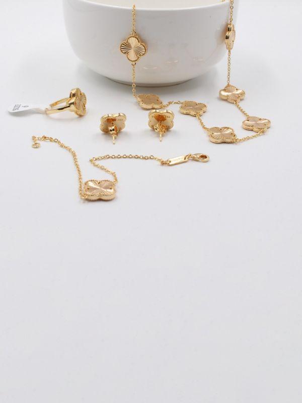 طقم فان كليف الذهبي 4 قطع-7