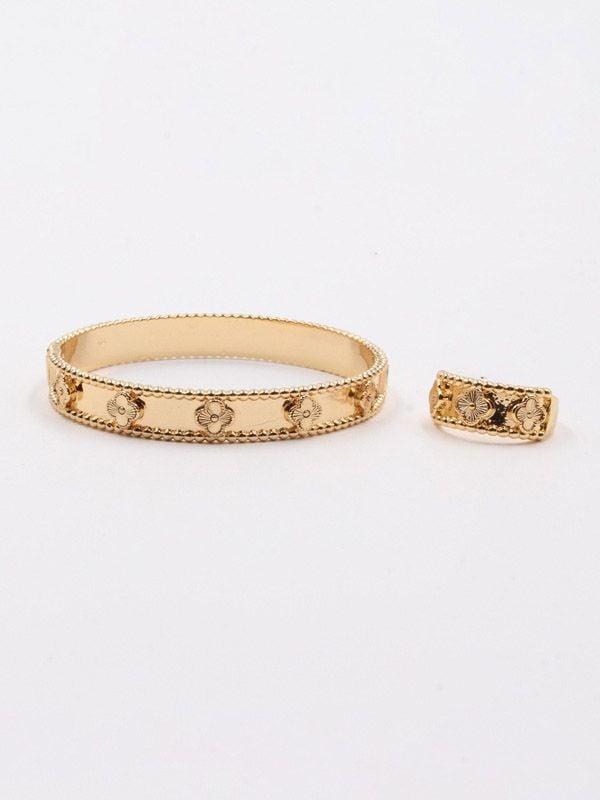 Van Cleef Flowers bracelet and ring