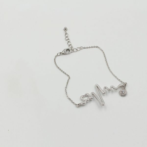 Bracelet heart beat crystal
