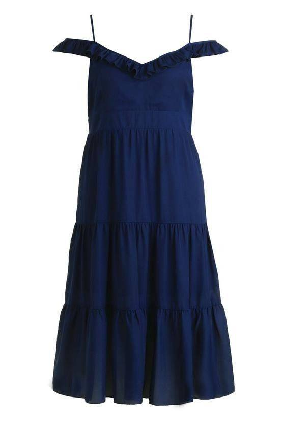 Dress with shoulder straps decorated with lace