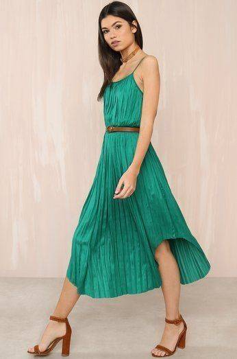 The In The Swing Dress Green