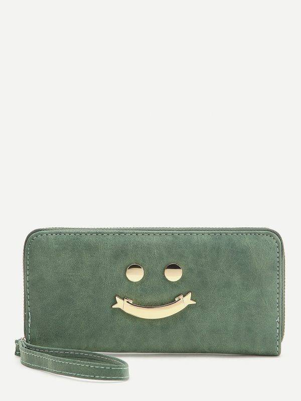 Green color Smile purse