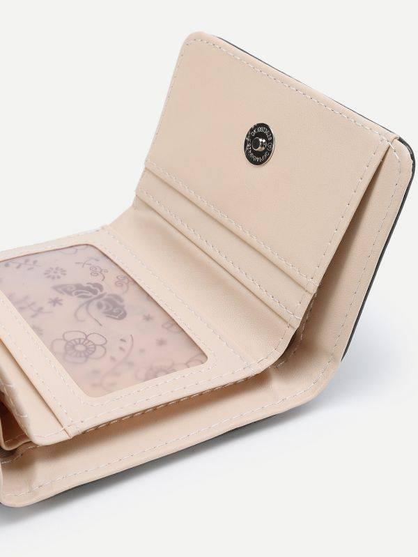 محفظة نقود جلد صناعي طباعة القطة الصغيره-4