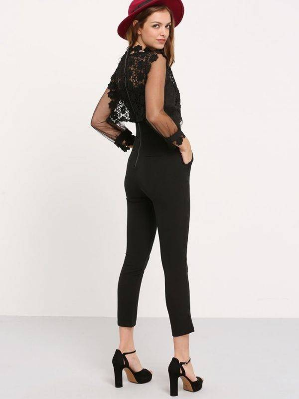 Jumpsuit is an elegant black