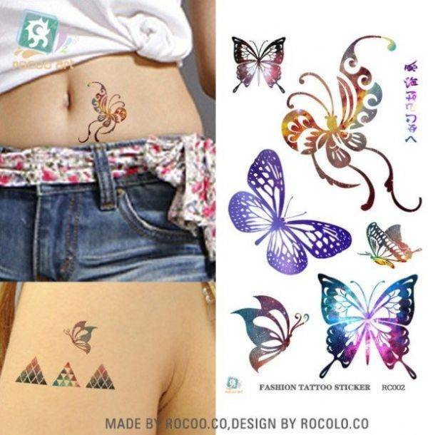 Tatoo colored butterflies
