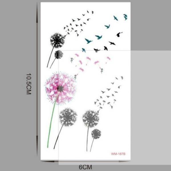 تاتو زهور وطيور