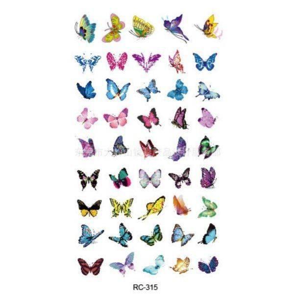 تاتو الفراشات