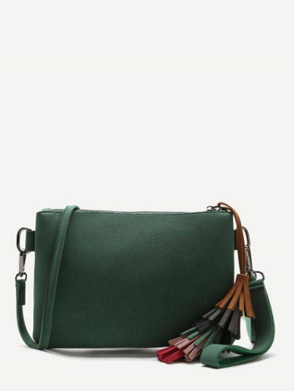 Elegant green bag for women