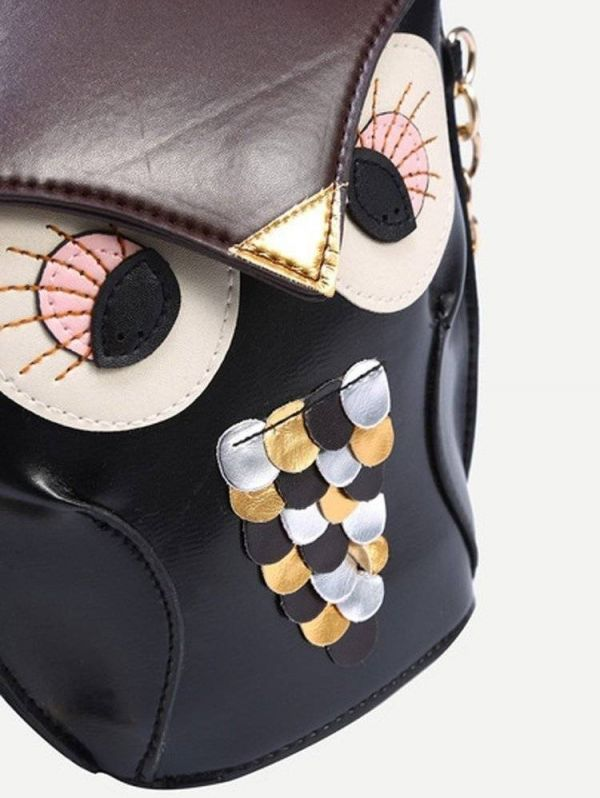 Black owl bag