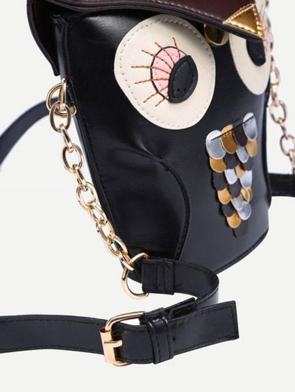 Black owl bag