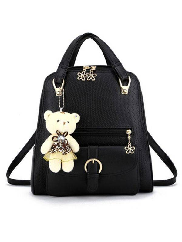 Black bag with clasp