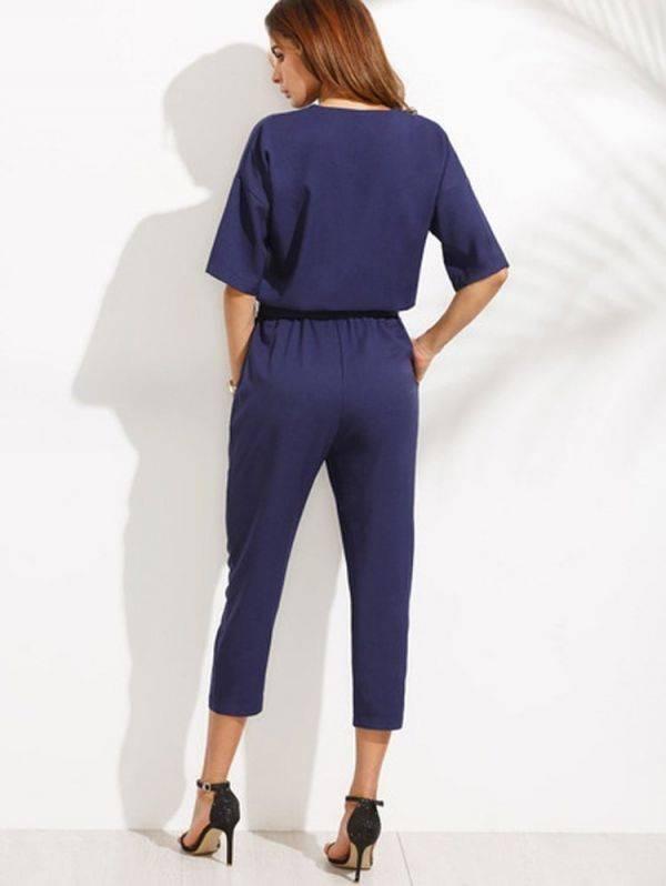 Jumpsuit bactericidal waistline half sleeve