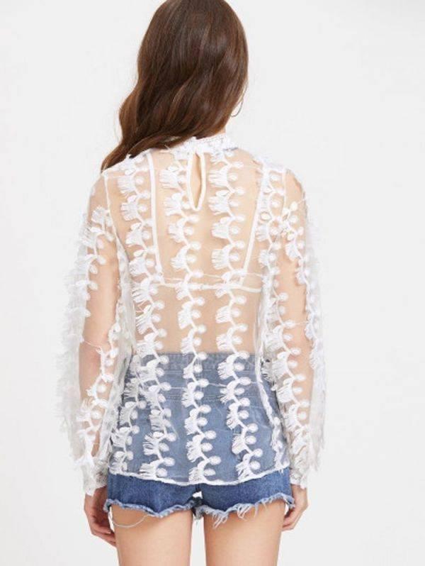 A transparent blouse tempts you long