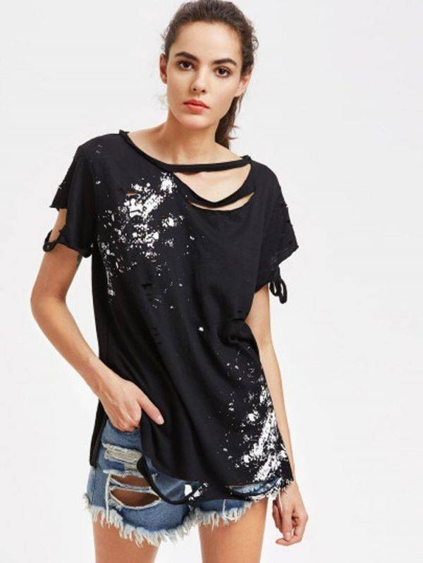 T-shirt collar short sleeve